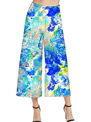Coolred Women Classic Smocked Waist Floral Sexy Wide Leg Pants As picture XS - Smocked Waist Silk Blouse