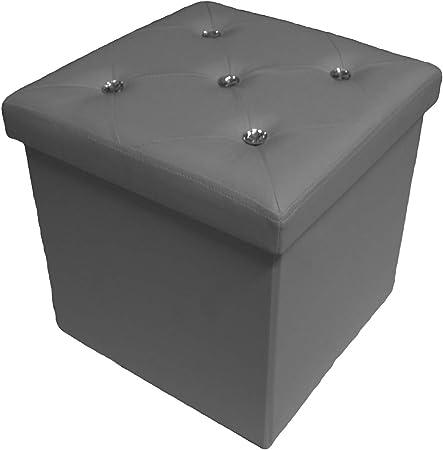 Ruso tejidos Puf Puff Box Recipiente Caja plegable sintética botones Swarovski topacio: Amazon.es: Hogar
