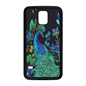 LTTcase Custom peacock Case for samsung galaxy s5 i9600