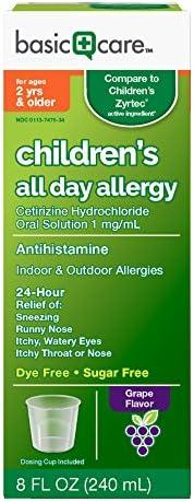 Basic Care Childrens Cetirizine Solution