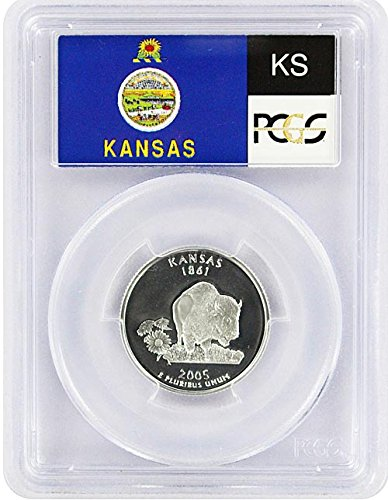 2005 Kansas State S Silver Proof Quarter PR-69 ()
