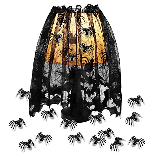 Halloween Spider Web Lace Lamp Shade Cover with