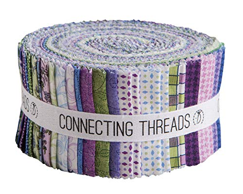 - Connecting Threads Print Collection Precut Quilting Fabric Bundle (Mum's Garden - 2.5