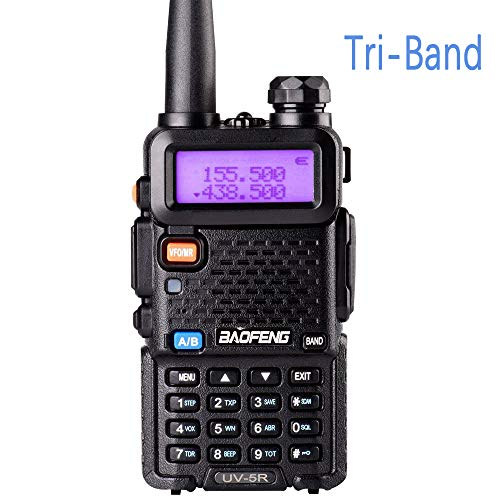 Tri-Band Radio BaoFeng Series Walkie Talkies UV-5RX3 VHF 1.25M UHF Amateur Handheld Ham Two Way Radios with Earpiece and Mic Set by LUITON
