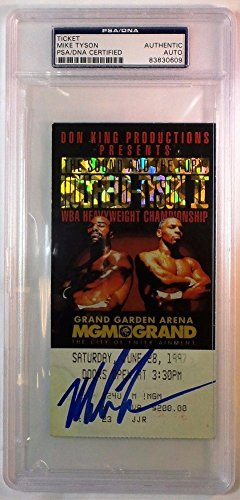 Mike Tyson Autographed Signed 1997 Tyson vs Holyfield Ticket PSA/DNA Authentic Autographed Signed Autograph