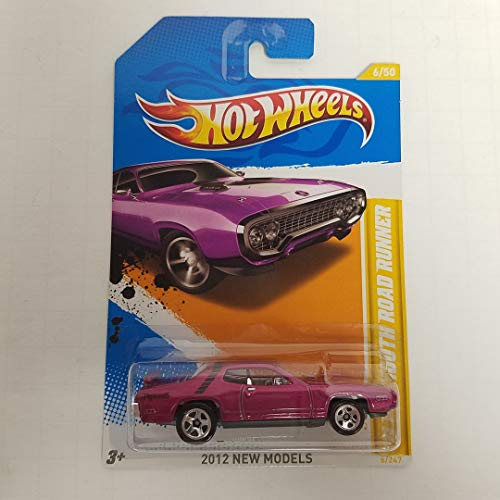 - '71 Plymouth Road Runner Purple Color 2012 New Models Hot Wheels 1/64 Scale diecast car no. 6