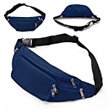 Fanny Pack with 4-Zipper Pockets, SAVFY Waist Bag Travel Pocket with Adjustable Belt For Workout Vacation Hiking, For iPhone 6 6S Plus, Galaxy S4 S5 S6 S7