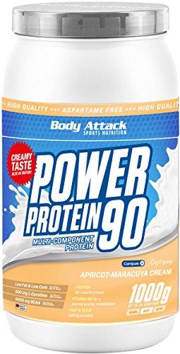 Body Attack Power Protein 90, Aprikose Maracuja, 1kg Dose