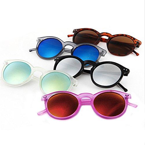 metal con de de gafas Black Vintage Gafas marco Leopard espejo redondo Transparent y Retro para sol green Lamdoo YWL unisex nxw0pOCqq