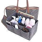 Felt Insert Purse Organizer, Multi Pocket Bag in Bag Organizer For Tote & Handbag Shaper 4 Color,3 Size Medium Large Extra Large