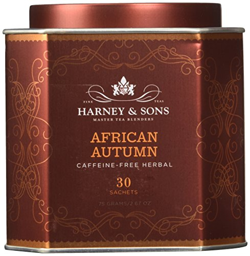Harney Sons African Autumn Caffeine-Free Herbal Tea 30 Sachets 2 67 oz 75 g