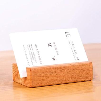 Tarjetero de madera para tarjetas de felicitación/tarjeta de ...