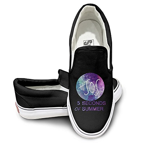 MGTER66 5sos Hot Dance Slip On Shoes Unisex Style Color Black Size 44