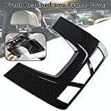 DHmart Carbon Fiber Style Trim Decor Frame Car Interior Dome Front Reading Light Lamp Frame Cover for BMW 1/2/3 Series X1 X5 X6
