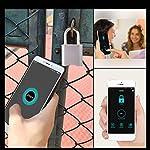 PURATEN-Lucchetti-per-Porte-Bluetooth-Lucchetto-Intelligente-IP66-Impermeabile-Accesso-remoto-Condividi-Adatto-per-Porta-di-casa-Zaino-Valigia-Bici-Palestra-Ufficio