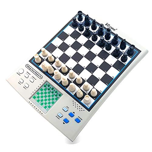 iCore Chess Set, Travel Magnetic Checkers Board, Electronic No Stress Teaching Game for Kids Adults (Best Chess Computer Game)