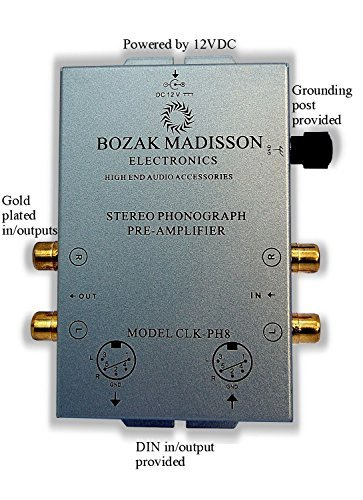 Bozak Madisson CLK-PH8 Phono Preamp Preamplifier Turntable Amplifier with DIN in/out
