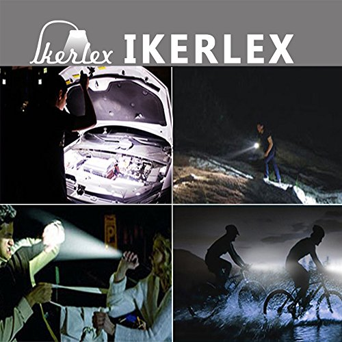 IKERLEX LED Linternas Tácticas Militares Recargables LED Antorcha Alta Potencia 1000 Lumen con 5 Modos Ajustable Portátil