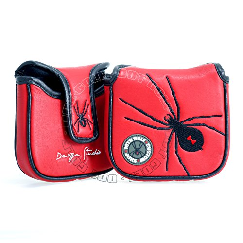 19th Hole Custom Shop Spider Golf High-MOI Mallet Putter Headcover, Heel Shaft, Red, Head Cover