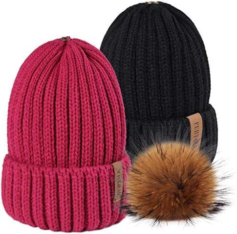 Pom Pom Beanie Cat Middle Finger Knit Hat Beanie