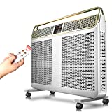 MAZHONG Space Heaters Radiator Heater With Adjustable Thermostat Wall Mount Or Free Standing, White, 2400 Watts