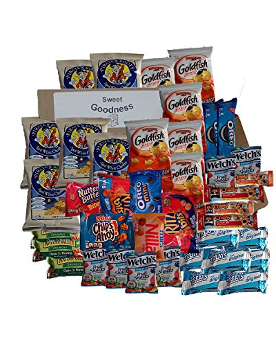 Sweet & Salty Snack Care Pack 40 Count by Sweet Goodness Snacks