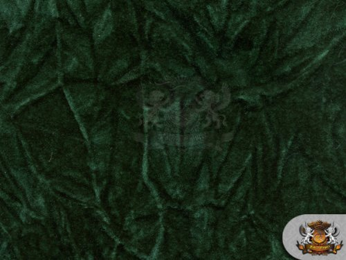 Velvet Crushed HUNTER GREEN Upholstery Fabric / 54 Wide / Sold By the Yard by FABRIC EMPIRE   B00DWFCJKY