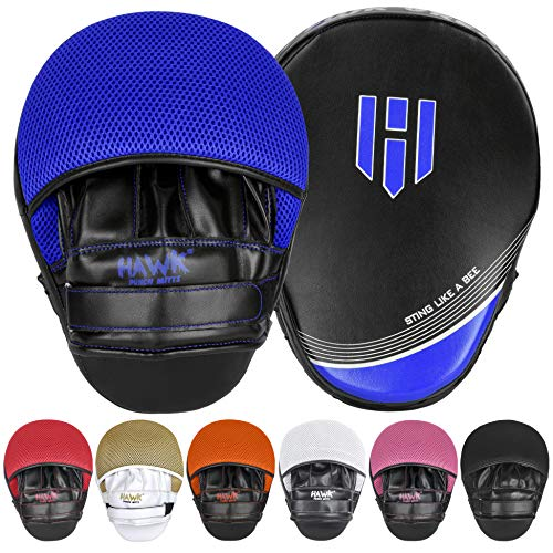 Punching Mitts Kickboxing Muay Thai MMA Boxing Mitts Training Focus Punch Mitts Bags Hand Target Pads for Kids, Men & Women (Pair) from Hawk Sports