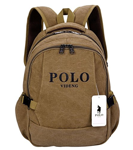 VIDENG POLO Casual Backpack 15 17 Inch Laptop Handbags School Bookbag - Polo Classic Bag