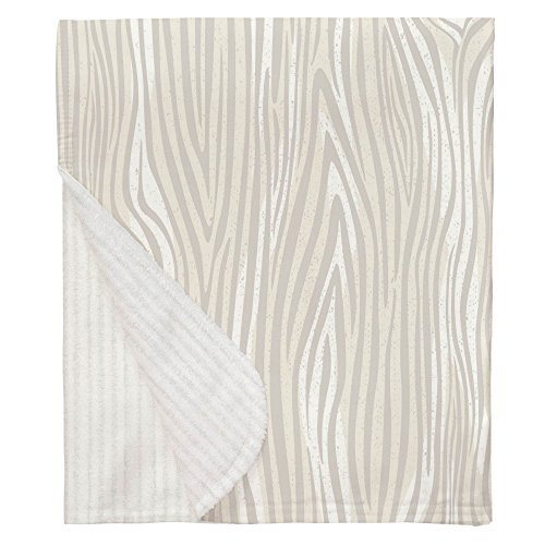 Carousel Designs French Gray Large Woodgrain Mini Crib Blanket by Carousel Designs (Image #4)