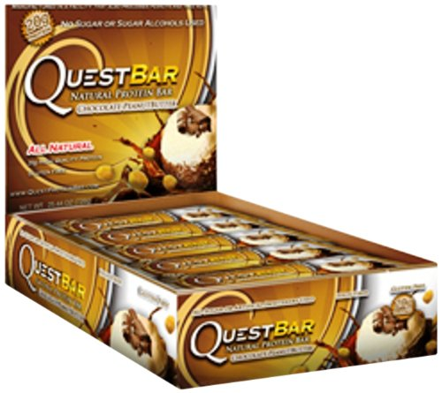 Quest Bar Protein Bar, Chocolate Peanut Butter, 25.4 oz (Pack of 12)