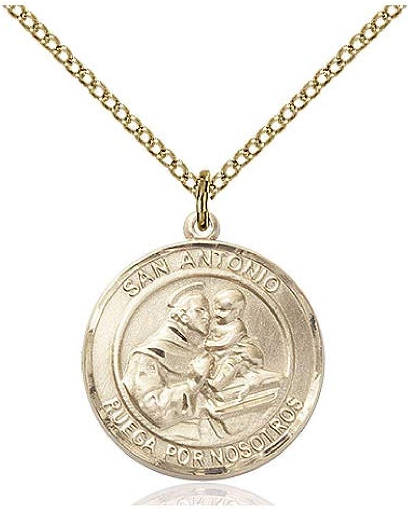 DiamondJewelryNY 14kt Gold Filled St Anthony Pendant
