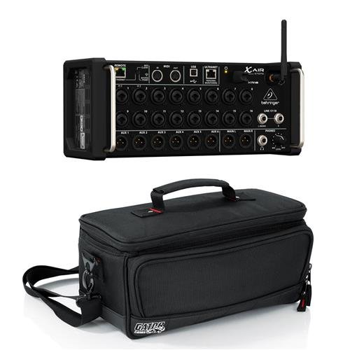 Behringer XAir XR18 18-Channel 12-Bus Portable Digital Mixer for iPad or Android Tablet, - Bundle With Gator Cases Padded Nylon Bag Custom Fit for Behringer X-AIR Mixer,
