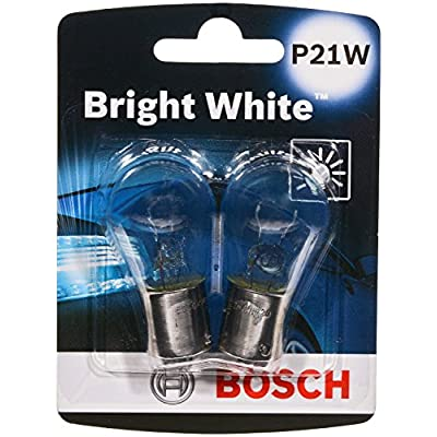 Bosch P21W Bright White Upgrade Minature Bulb, Pack of 2: Automotive