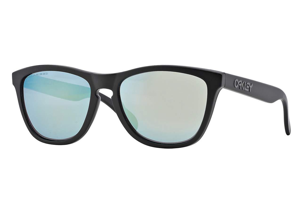 [オークリー] OAKLEY サングラス Frogskins フロッグスキン (OO9013-24-297~419) [並行輸入品]  フレーム: Matte Black/レンズ: Emerald Polarized B07TM93G57