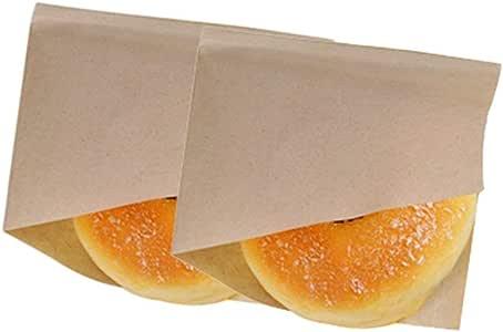 Dosige 100PCS Bolsa de Papel para Envolver,Bolsa de Papel triángulo,Bolsa de Papel Kraft,Caja de Comida desechable para Pan, Hamburguesa, Pastel Size 15 * 15CM (Marrón Claro): Amazon.es: Hogar