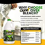 Industrial Strength GONE Mold, Mildew & Algae Stain Remover | No-Scrub Stain Remover | Instant Results for All Surfaces - 32