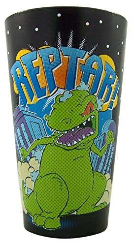 Reverse Glass Painting Patterns (Rugrats Reptar Pint Glass with Reverse Pattern, 16 oz)