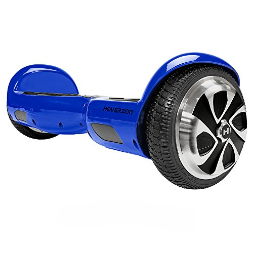 HOVERZON AP598-4 S-Blue S(01) S Series Self Balance Hoverboard Scooter UL 2272; Dual Power 250-Watt Motor; Durable Aegis Armor Battery (Blue)