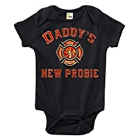 Daddy's New Probie Funny Firefighter One-piece Baby Bodysuit Cute Baby Clothe...