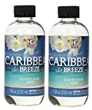 Hosley Set of 2 Premium Caribbean Breeze Reed Diffuser Refills Oil, 230 ml (7.75 fl oz) Made in USA. Bulk Buy. Ideal Gift for Weddings, spa, Reiki, Meditation Settings W1