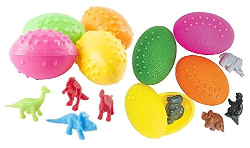 72 Dinosaur Eggs with Mini Dino Toy Figure Inside