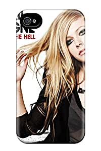 linJUN FENGTpu Mialisabblake Shockproof Scratcheproof Avril Lavigne What The Hell Hard Case Cover For Iphone 4/4s
