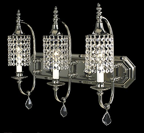 Framburg 2049 PS 3-Light Princessa Dining Chandelier, Polished Silver - Framburg Lighting Crystal Pendant