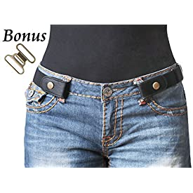 No Buckle Stretch Belt For Women/Men Elastic Waist Belt Up to 48″ for Jeans Pants