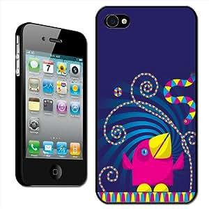 Fancy A Snuggle - Carcasa rígida para iPhone 4 y 4s, diseño de pájaro y serpiente de fiesta