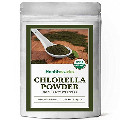 (Healthworks Chlorella Powder Organic (Cracked Cell Walls),)