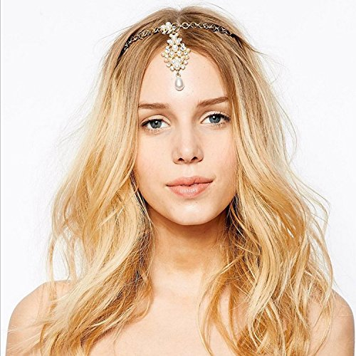 A&c Vintage Princess Head Chain for Women, Fashion Headband for Women - Princess Indian Head