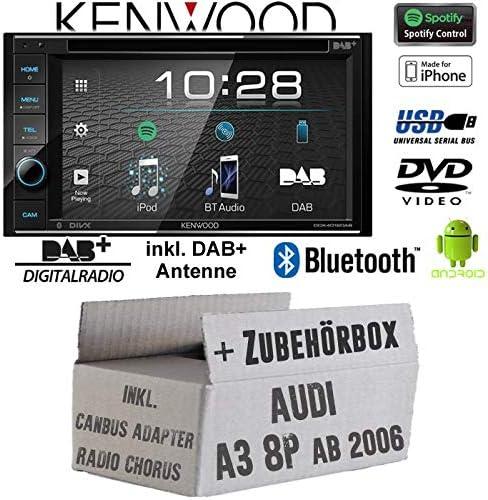 Radio Kenwood DDX4019DAB para Audi A3 8P, incluye CanBus ...