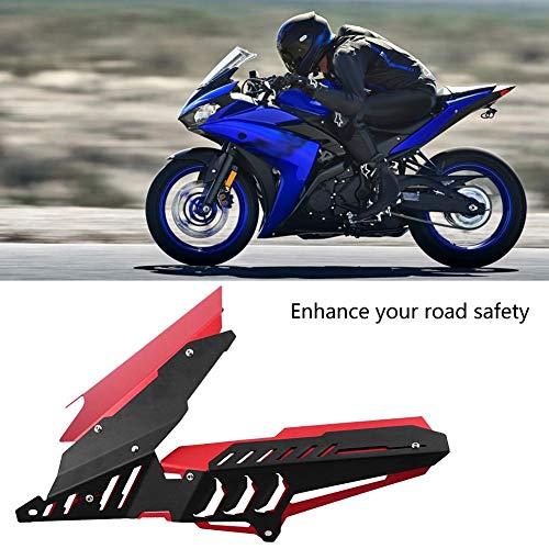 KSTE CNC Motocicleta Guardabarros Trasero Guardabarros y Cadena Guardia Kit de la Cubierta Compatible with Yamaha YZF R25 R3 13-17 Rojo